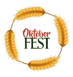 Oktober fest invitation poster vector