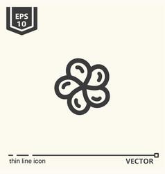 One icon - franzhapani flower vector