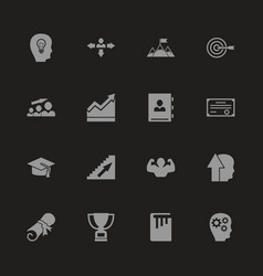 Personal development - flat icons vector