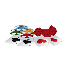 Poker games and elements vector