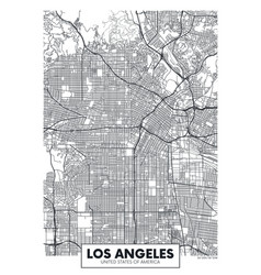 poster map city los angeles vector image