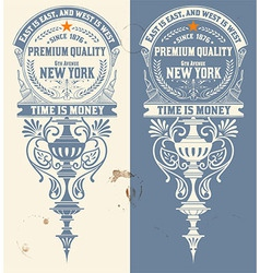 Premium Quality banner Baroque ornaments vector image