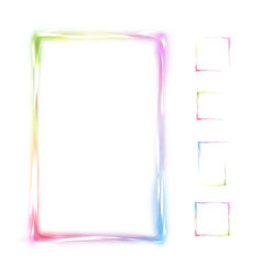 rainbow frame isolated on white background vector image