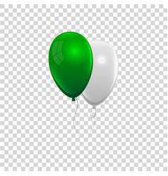 realistic air gel balloon vector image