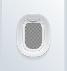 Realistic detailed 3d blank airplane window vector