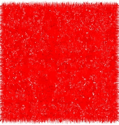 Red grunge background unusual texture vector image