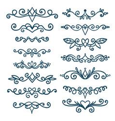 set vintage decorative elements vector image