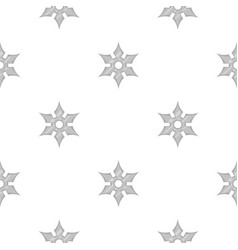 Shuriken weapon pattern seamless vector