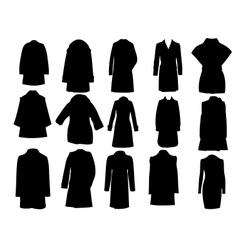 Silhouette coats eps10 vector