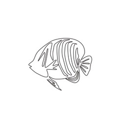 Single continuous line drawing adorable regal vector