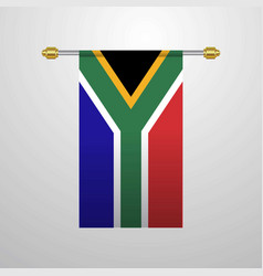 south africa hanging flag vector image