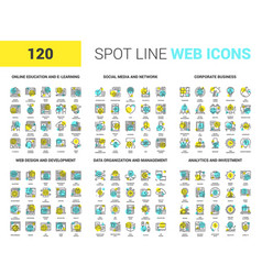 Spot line web icons vector
