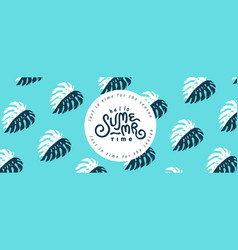 summer banner design with pattern pineapple retro vector image
