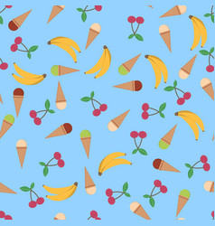 summer poster background with ice cream cone vector image