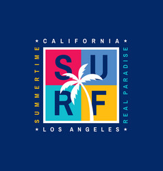 surf - california los angeles vector image