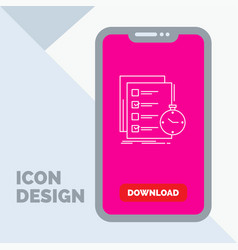 Todo task list check time line icon in mobile for vector