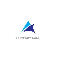 Triangle arrow abstract company logo vector