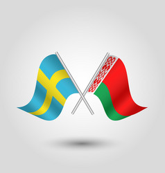 Two crossed swedish and belarusian vector