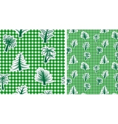 Vichy seamless background with trees vector