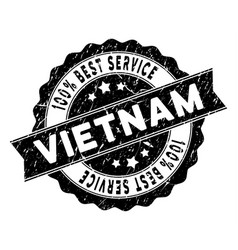vietnam best service stamp with dust surface vector image