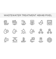 wastewater icon set vector image