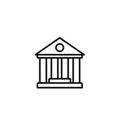 web line icon classical building with columns vector image