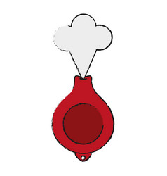 whoopie cushion funny or joke item icon image vector image