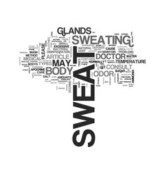 beauty care what is sweat text word cloud concept vector image vector image