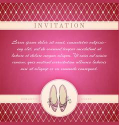 Cinderella princess invitation template vector