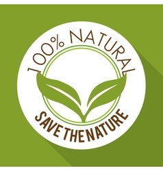Natural product design vector image vector image
