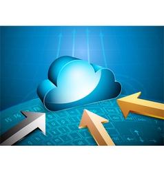 Remote server vector image vector image