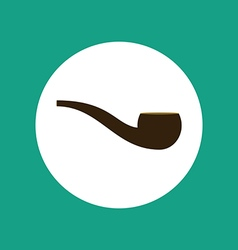 Smoking pipe vector image