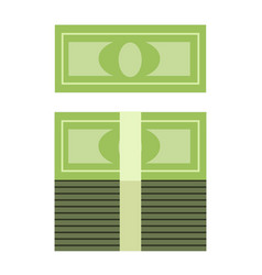 stack of money in a roll vector image vector image