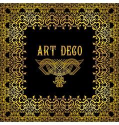 art deco border vector image