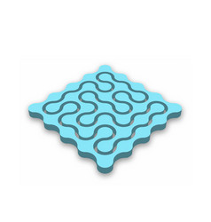 closed 3d maze blue abstract maze with dropped vector image