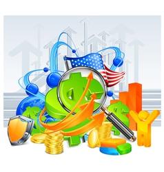 economic development background vector image