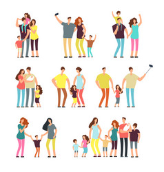happy family groups adult parents couple playing vector image