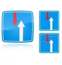traffic road sign vector image vector image