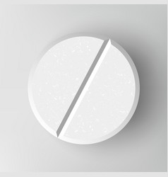 white 3d medical pill or drug vector image