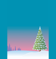winter background 2 vector image vector image