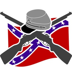 American Civil War Confederacy vector image