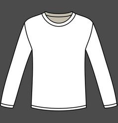 Blank long-sleeved t-shirt template vector
