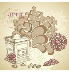 Coffee shop flyer vector image