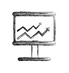 figure board with financial arrow to growing vector image