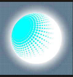 set abstract halftone 3d spheres 13 vector image vector image