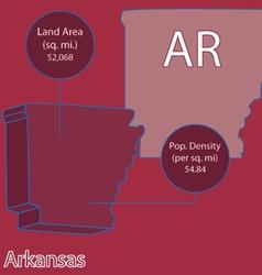 Arkansas 3D info graphic vector image