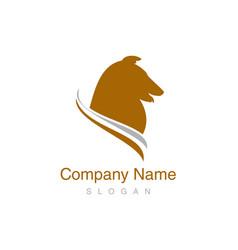 collie logo vector image