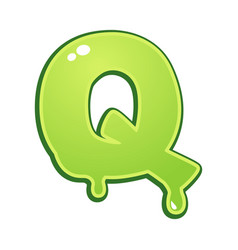 slimy font type letter q vector image