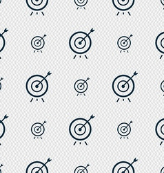 Target icon sign Seamless pattern with geometric vector image