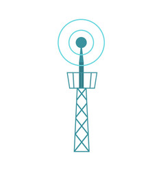 television tower isolated icon vector image